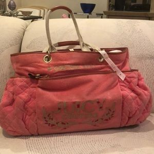 30% OFF ! Juicy Couture Baby  Bag Pink Velour